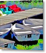 Boats Summer Vasona Park Metal Print
