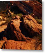 Vasquez Rocks And Stars Metal Print