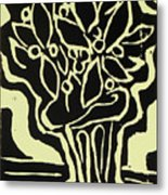 Vasum Yellow Metal Print