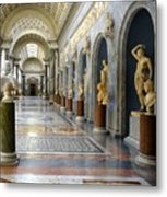 Vatican Museums Interiors Metal Print