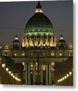 Vatican, Rome, Italy.  Night View Metal Print