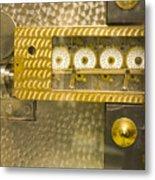 Vault Door Timing Device Metal Print