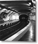 Vavin Station Paris Metro Metal Print
