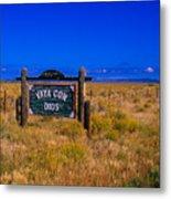 Vaya Con Dios Sign San Luis Valley Co Metal Print
