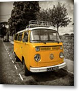 Vdub In Orange  Metal Print