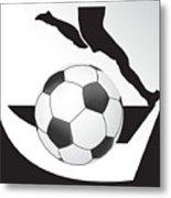 Vector Soccer Ball. Corner Kick Graphic Symbol Metal Print