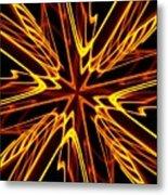 Vectoring The Neon Metal Print by David Dunham