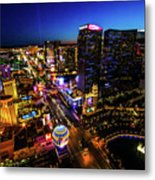 Vegas At Dusk Metal Print