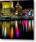 Vegas Reflections Metal Print
