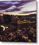 Vegas Sunset Metal Print