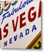 Vegas Tribute Metal Print