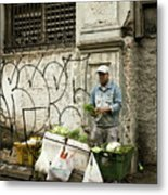 Vegetable Vendor Havana Cuba Metal Print