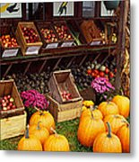 Vegetables In A Market, Grand Rapids Metal Print