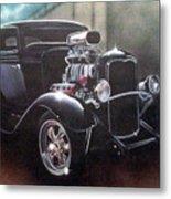 Vehicle- Black Hot Rod  Metal Print