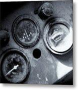Vehicle Dials In Dust Metal Print