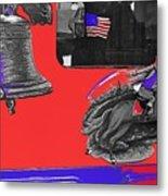 Vehicle Liberty Bell Paul Revere Flag Bicentennial Of Constitution Tucson Arizona 1987-2015 Metal Print