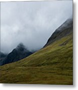 Velvet Hills In The Mist Metal Print