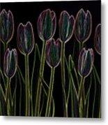 Velvet Tulips Metal Print