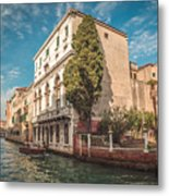 Venetian Architecture And Sky - Venice, Italy Metal Print