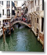 Venetian Bridge Metal Print