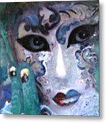 venetian carneval mask I Metal Print