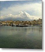 Venetian Harbour Hania Metal Print