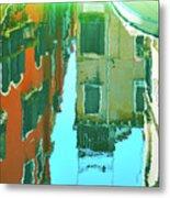 Venetian Mirror - Venice In Water Reflections Metal Print