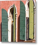 Venetian Windows Metal Print