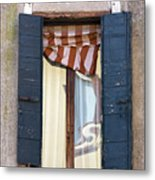 Venetian Windows Shutter Metal Print