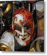 Venezian Masks Metal Print