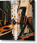 Venice - Gondola Ride Metal Print