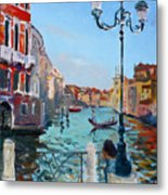 Venice  Aspetando Metal Print