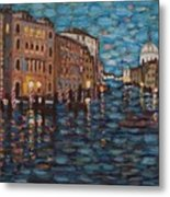 Venice At Night Metal Print