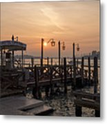 Venice At Sunset Metal Print