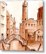 Venice Backwater Metal Print