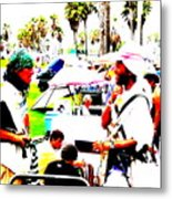Venice Beach Artsy Crowd Metal Print