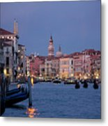 Venice Blue Hour 2 Metal Print