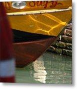 Venice Boat Closeup Metal Print