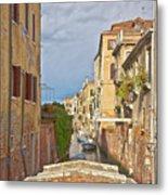 Venice Bridge Crossing 1 Metal Print