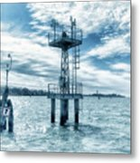 Venice - Buoy And Mooring In The Lagoon Metal Print