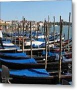 Venice Cab Stand Metal Print