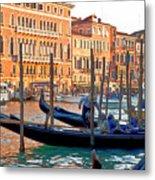 Venice Canalozzo Illuminated Metal Print