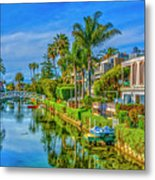 Venice Canals And Houses 4 Metal Print