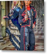 Venice Carnival Characters_dsc1364_02282017  Metal Print