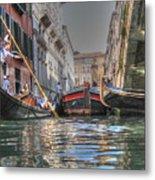 Venice Channelsss Metal Print