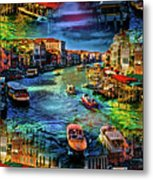 Venice Coming And Going Metal Print