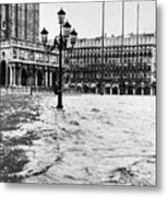 Venice: Flood, 1966 Metal Print