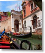 Venice From A Gondola Metal Print