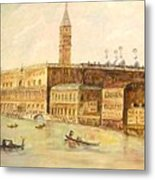 Venice From Grand Canal Metal Print