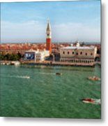 Venice Grand Canal And St Mark's Campanile Metal Print